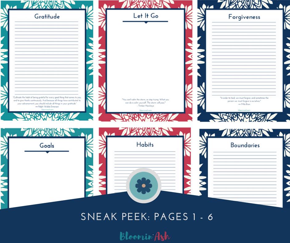 personal growth journal printable