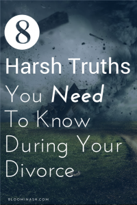 8 truths to know during divorce; boundaries in divorce, truth about divorce, tips for divorce