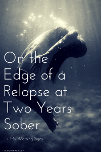 drowning relapse warning signs recovery sobriety