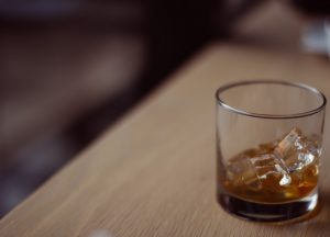 whiskey on counter relapse warning signs
