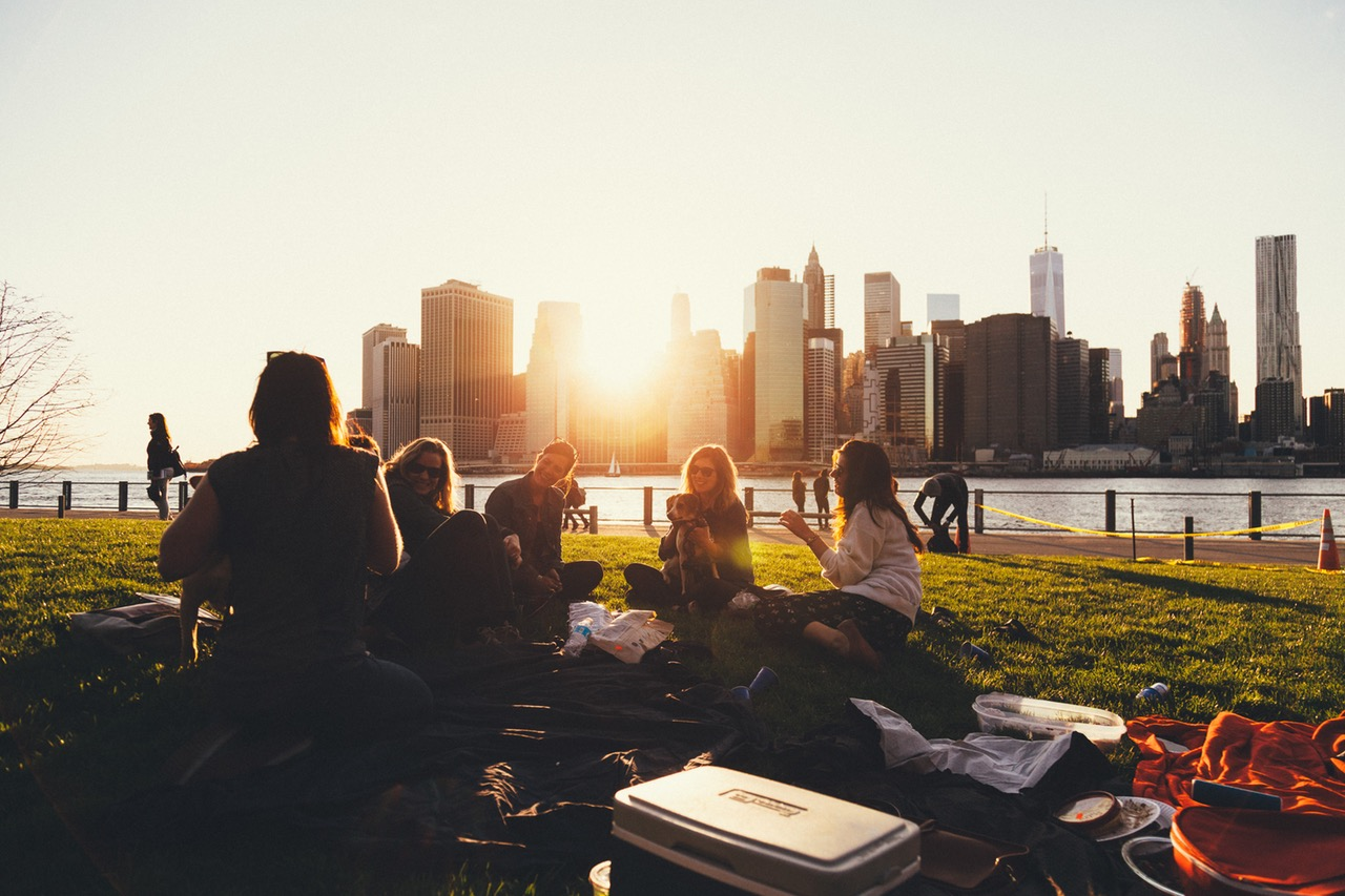 socializing without alcohol friends having picnic sobriety