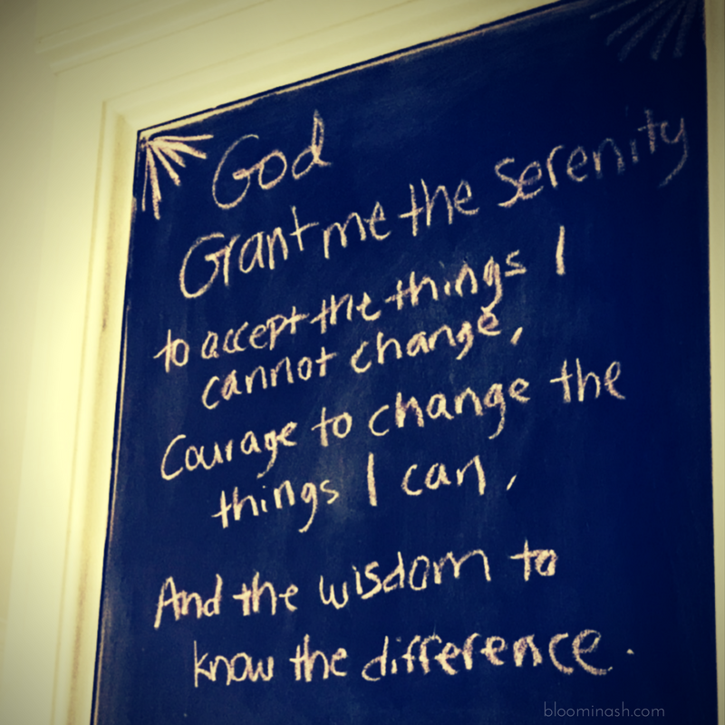 serenity prayer chalkboard recovery sobriety mantra stopped being grateful