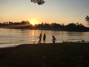 kids in sunset recovery campout sobriety social media detox